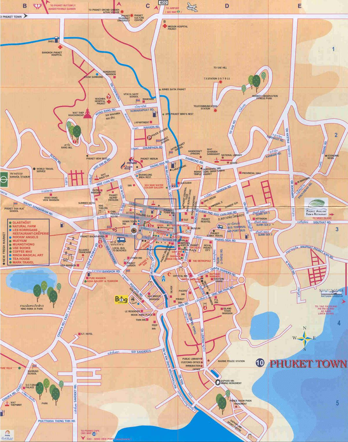 Phuket Maps Maps of Phuket Town Patong and all towns beaches